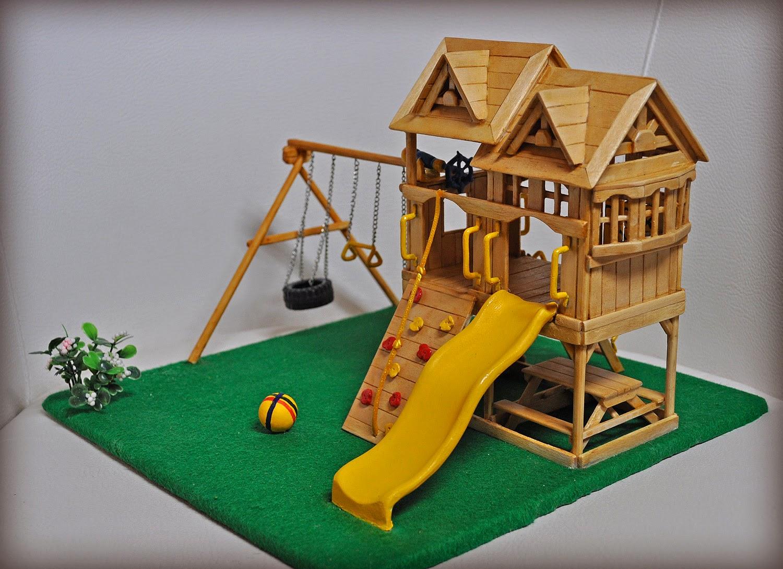 Замок из палочек от мороженого своими руками 16