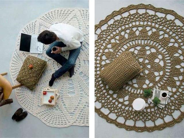 коврики крючком пополняем коллекцию интересные модели схемы и