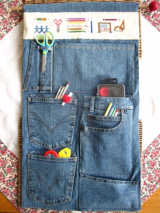 Кармашки из джинсов своими руками 23