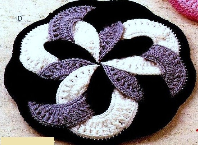 Вязание детских ковриков крючком схемы