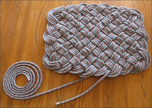 Плетение ковриков из шпагата своими руками мастер класс 15