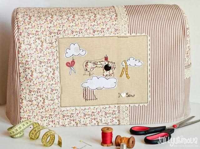 c4bac61a8c2e Оденьте свою помощницу — швейную машину в красивое «платье». Но, сперва  посмотрите какие чудесные чехлы для швейной машинки можно сделать своими  руками ...