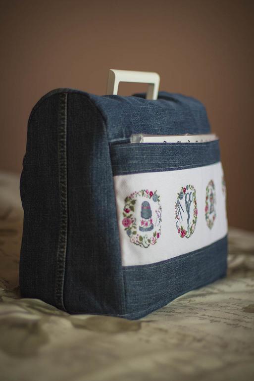 Сшить чехол для швейной машинки из старых джинсов 39