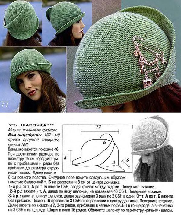 Связать летнюю шапку своими руками
