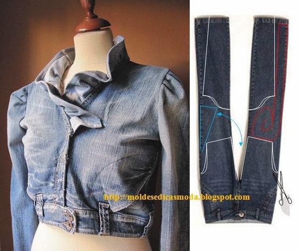 Как сшить куртку для мальчика из старых джинс фото 196
