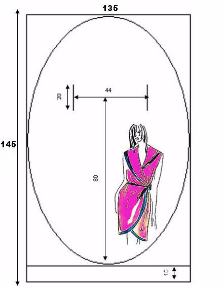 c6343a0b801 Выкройка платья халата с запахом. Подробный видео урок как сшить вот такой  халат с запахом смотри ниже