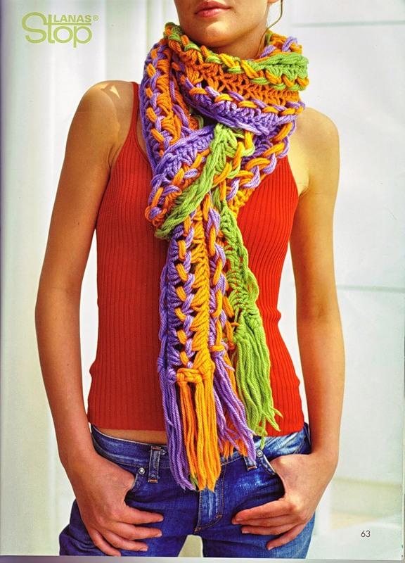 как связать шарф крючком на линейке
