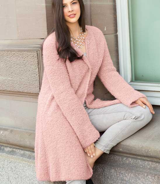 вяжем красивые пальто спицами схемы и описание