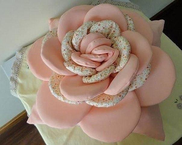 Цветы из ткани для подушек своими руками фото 76