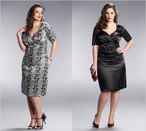 280bd93379a Выкройка модного платья для полных