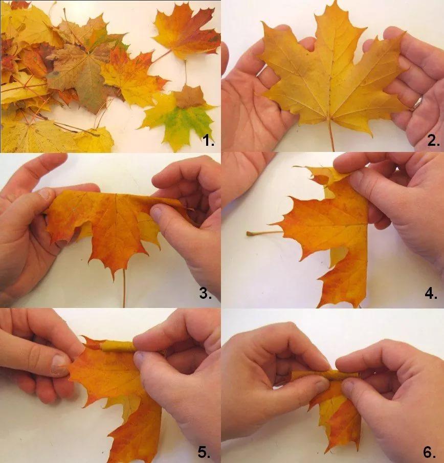 Поделки из клёновых листьев 669