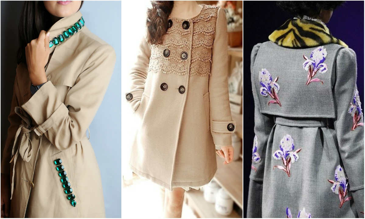 Декор пальто своими руками с фото 27