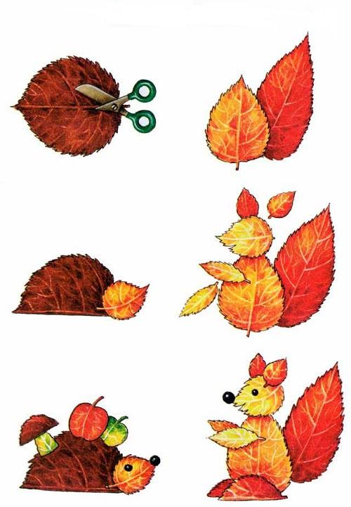 Поделки из листьев лёгкие 59
