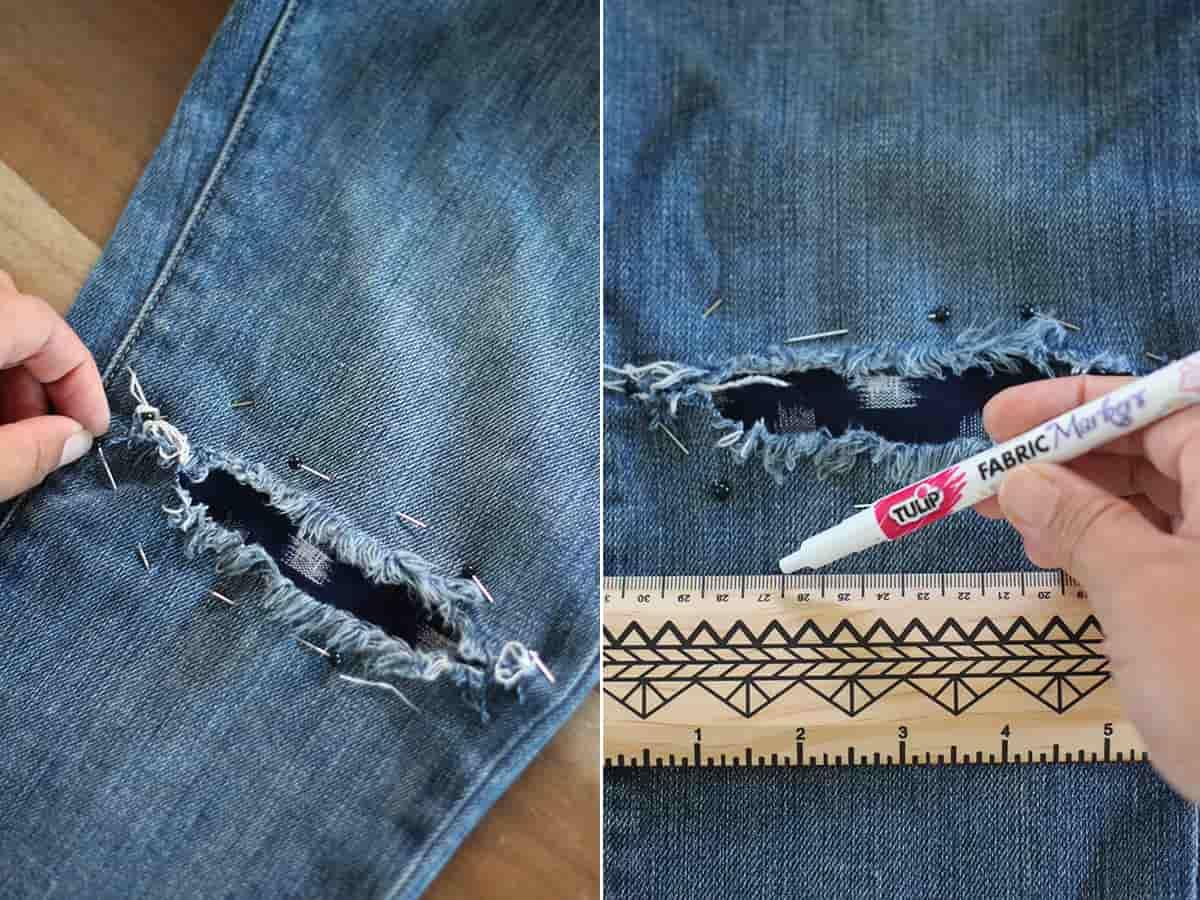 Как украсить джинсы (122 фото) 75
