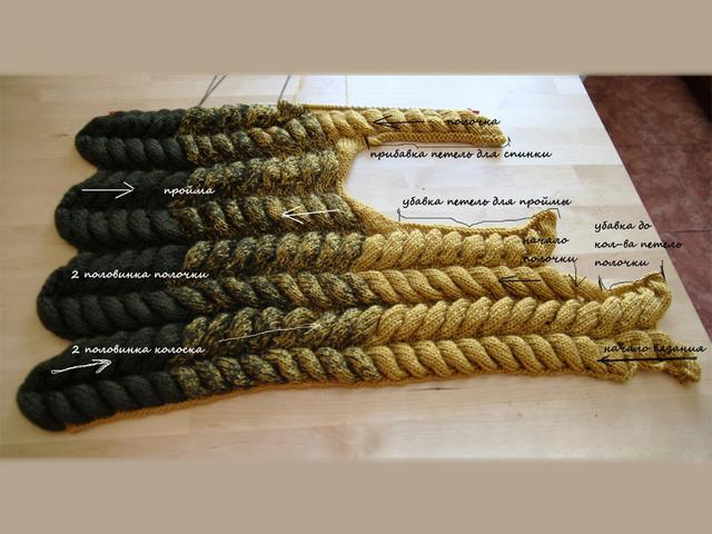 Вязание азиатского колоска для начинающих 49