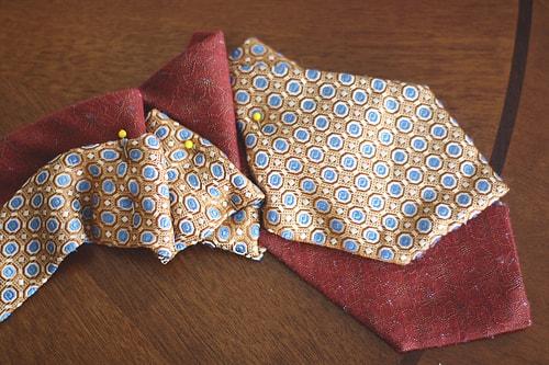 что можно сделать из мужских галстуков фото
