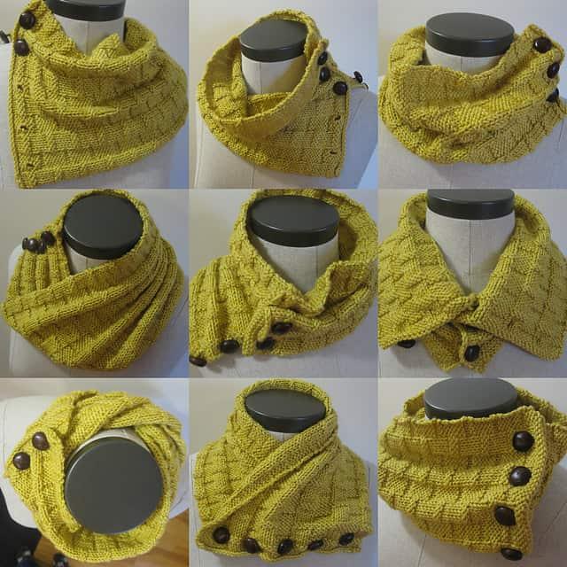 оригинальный шарф воротник с пуговицами