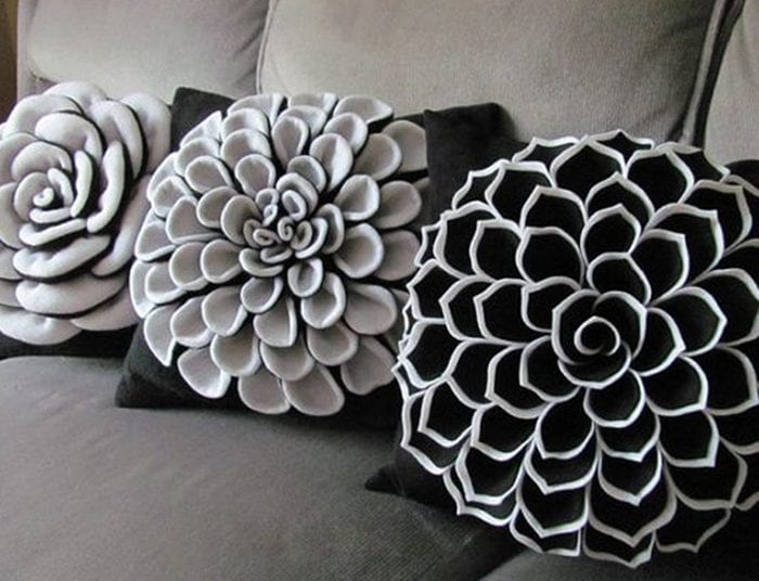 Подушки цветы своим рукам 184