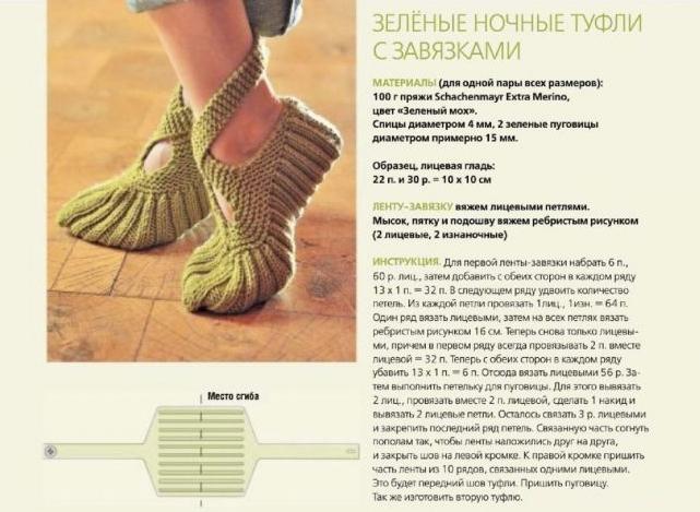 Способ вязания носков с носка 40