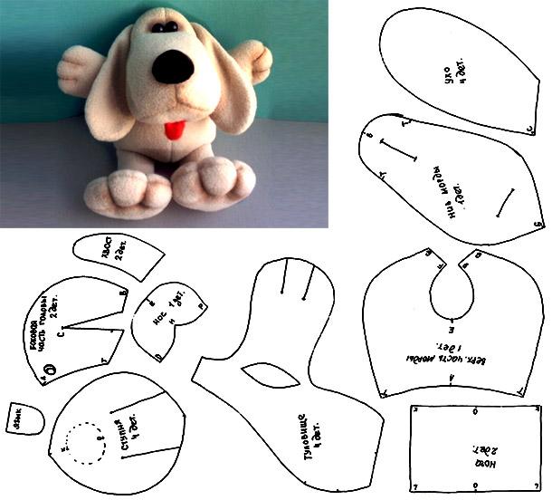 Выкройки игрушек из ткани своими руками простые собачки