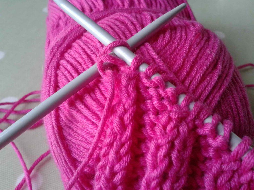 как чередовать цвета при вязании спицами