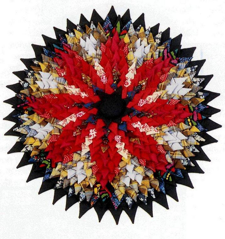 Коврик из треугольников своими руками 347