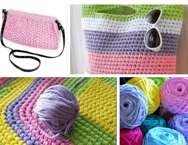 Нитки для вязания крючком сумки
