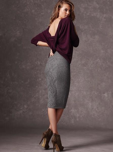 вяжем модную юбку карандаш от Victorias Secret