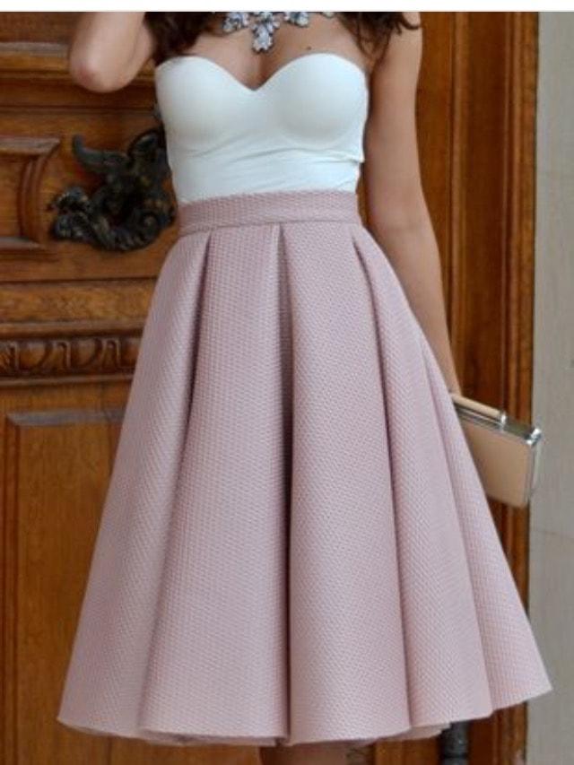 Сшить юбку с бантовыми складками на поясе