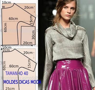4d8ba3741fa Шикарные модели блузок и футболок для начинающих. Выкройки и ...