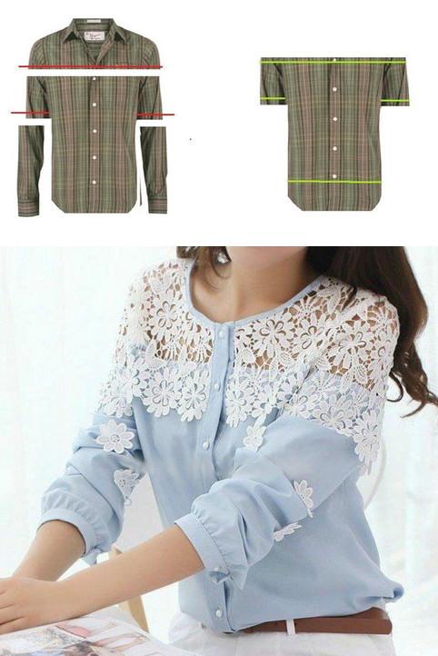 7d14d254daf Обновляем одежду своими руками  Идеи переделки блузок
