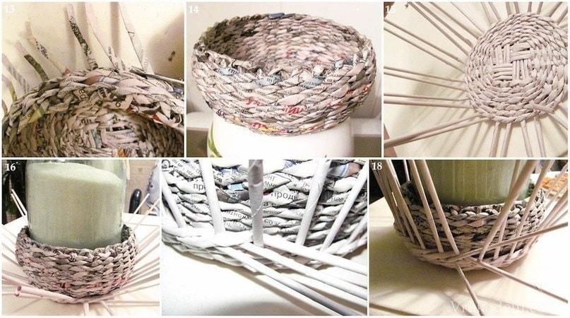 Плетение коробки из бумаги своими руками 94