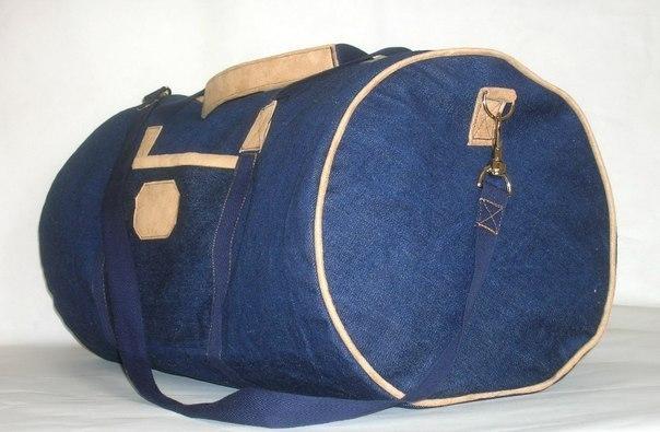 94894ad68c10 Выкройка спортивной сумки из джинсовой ткани. Спортивная сумка своими руками  ...