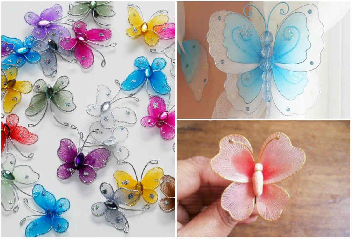 Делаем бабочек своими руками из ткани