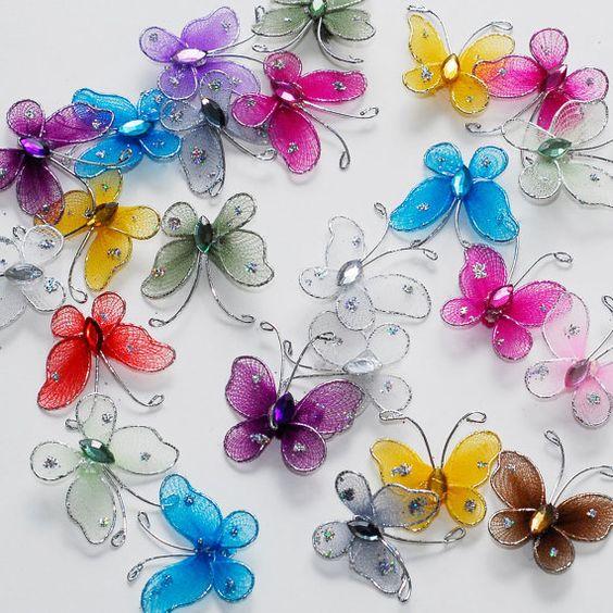 Бабочки из капроновых колготок своими руками мастер класс 10