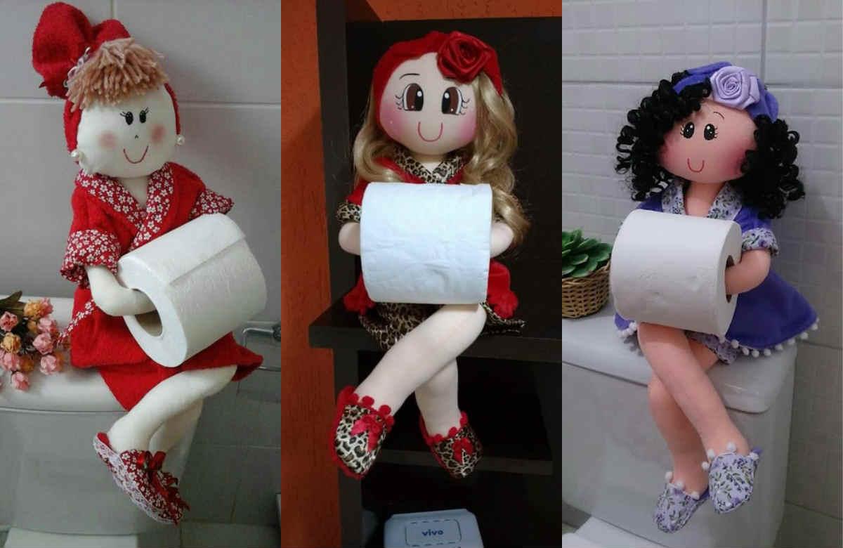 Сшить держатель в виде куклы для туалетной бумаги 34